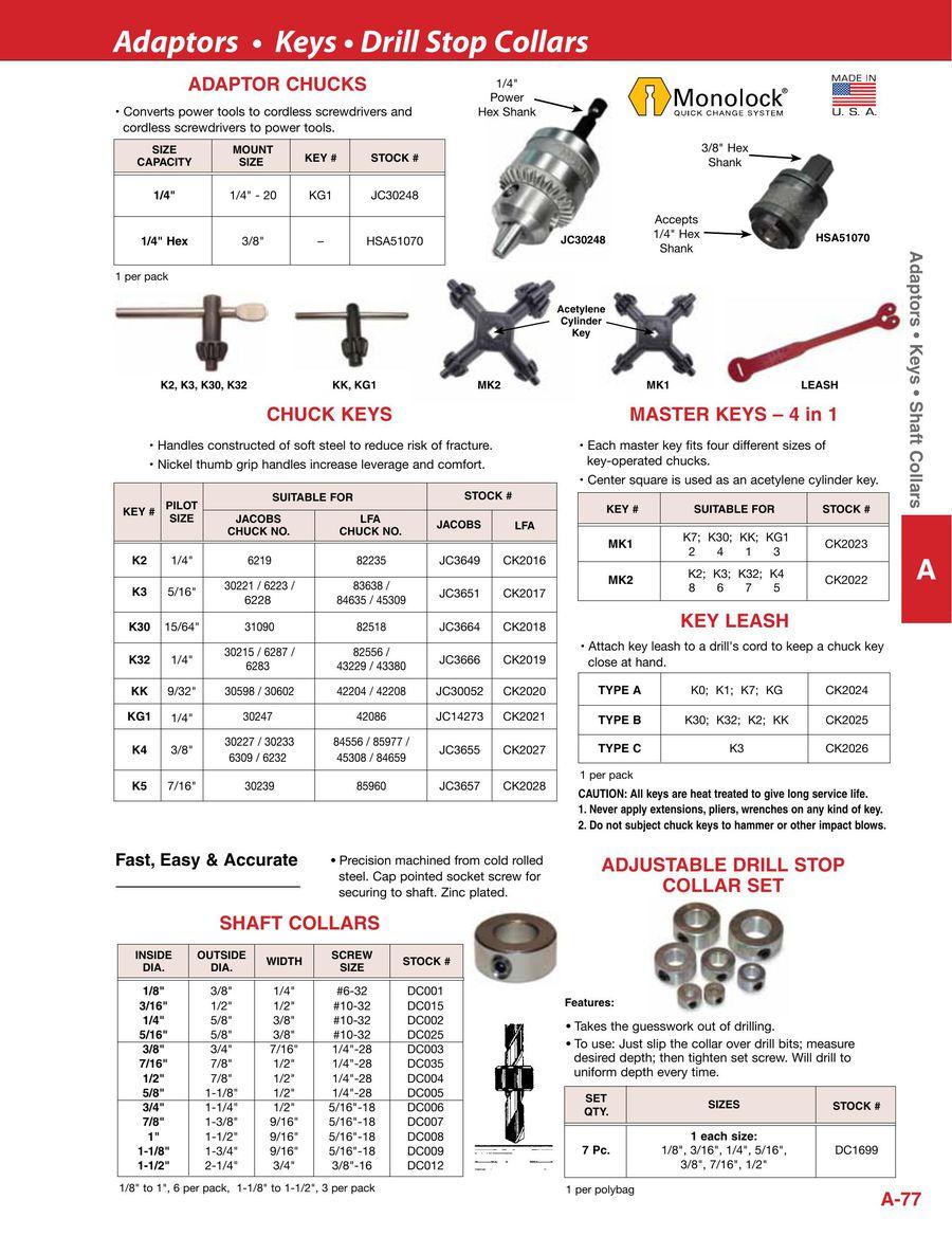 Alfa Tools JC3657 Key# K5 Jacobs Chuck Key