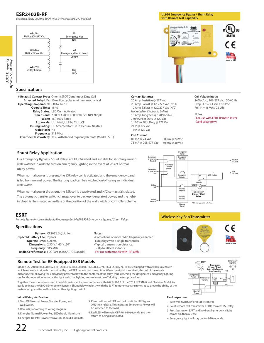 Page 20 Of 2013 Lighting Controls Electronic Ballast Rated Relay P 87