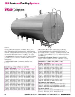 Milk Tanks and Cooling systems 2015