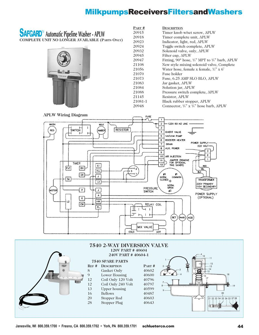 Page 13 Of Milkpumps Receivers And Filters 2015 240 Volt Ct Wiring Diagram P 18