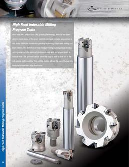 High Feed Indexable Milling Program 2015
