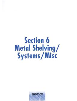 Metal Shelving/Systems/Misc 2015