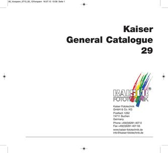 Kaiser General Catalogue 29