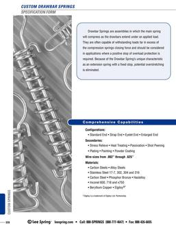 Drawbar Spring Specification 2015