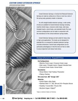 Coned Extension Spring Specification 2015