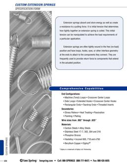 Extension Spring Specification 2015