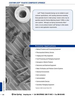 LeeP™ Plastic Composite Spring Specification 2015