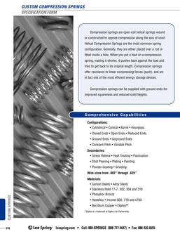 Compression Spring Specification 2015