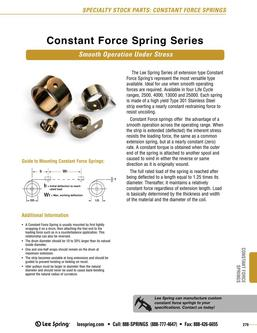 Constant Force Springs 2015