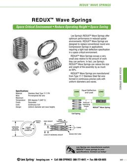 Stock REDUX™ Wave Springs 2015