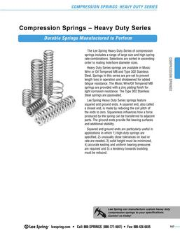 Stock Compression Springs Heavy Duty Series (Inch) 2015