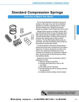 Stock Compression Springs Standard Series (Inch) 2015