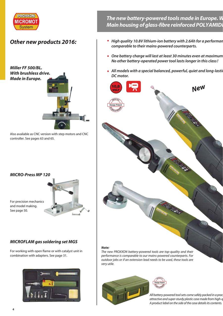 Micromot Tools 2017 by PROXXON