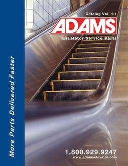 Adams Escalator Parts Catalog Vol. 1.1