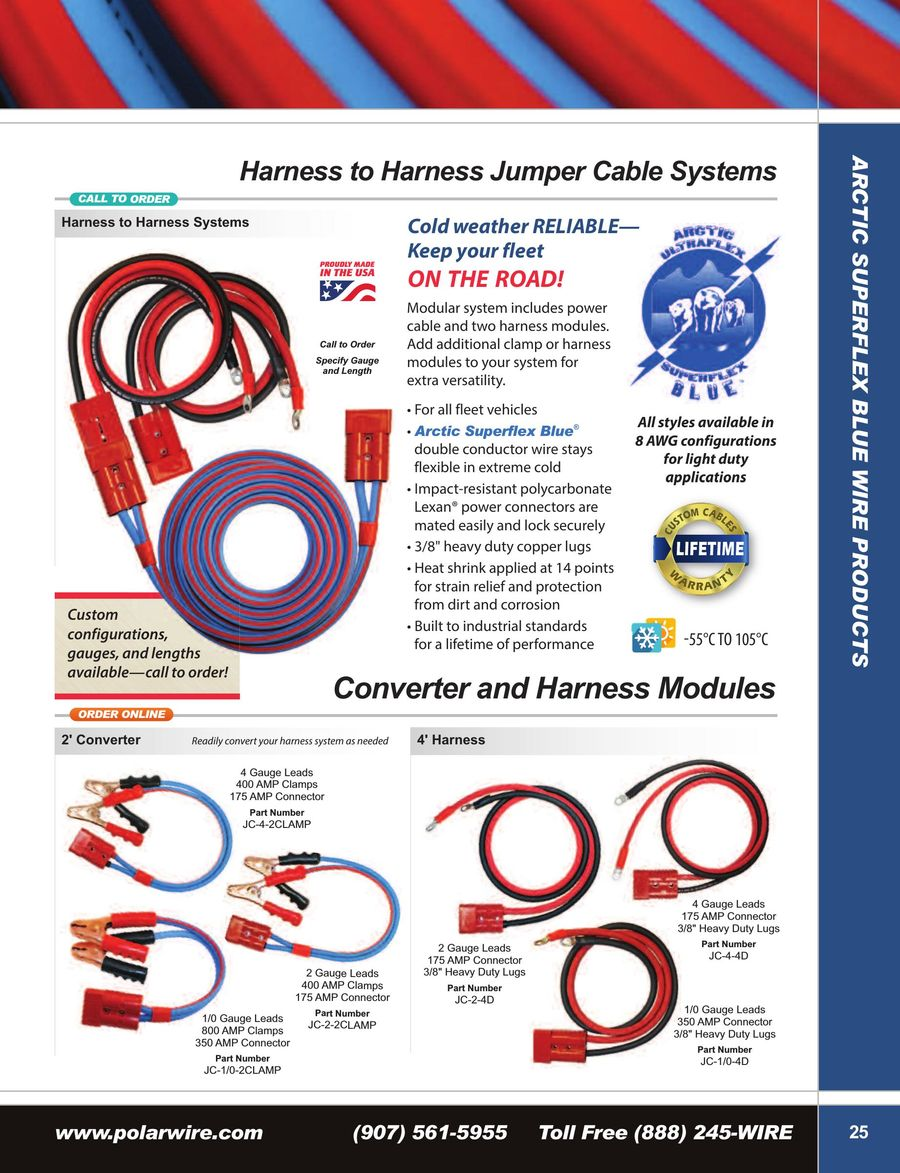 Booster Cable Systems Clamps 2015 By Polar Wire Jc Harness P 1 4