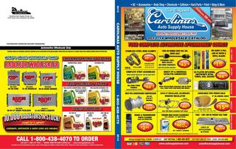 Carolinas Auto Supply House Wholesale Catalog 2013