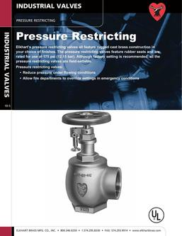 Pressure Restricting Industrial Valves 2015