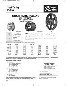Timing Pulleys 2015