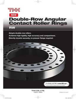 Double-Row Angular Contact Roller Rings RW 2015