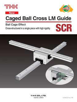 Caged Ball Cross LM Guide Model SCR 2015