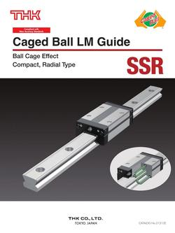 Caged Ball LM Guide Model SSR 2015
