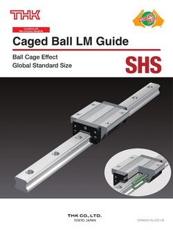 Caged Ball LM Guide Model SHS 2015