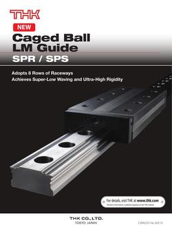 Caged Ball LM Guide Model SPR/SPS 2015
