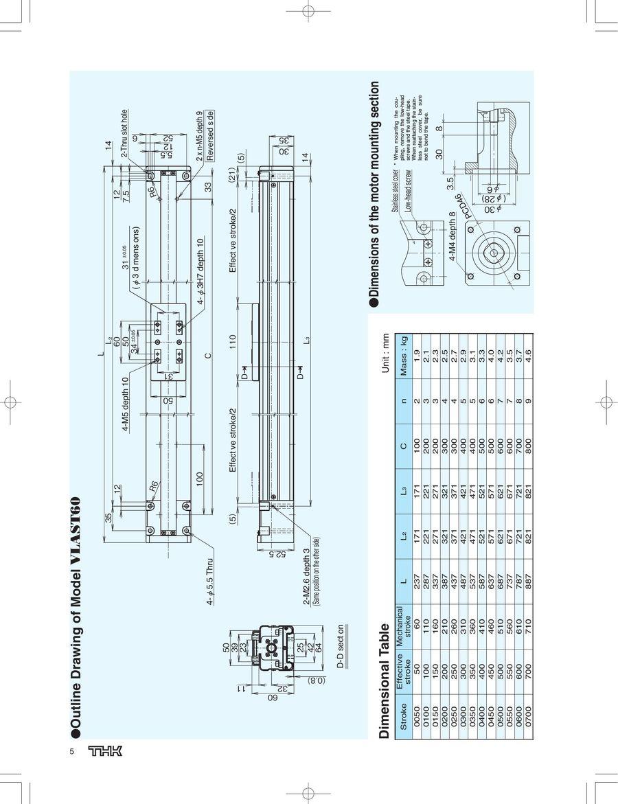 Low Price Actuator Model VLA 2015 by THK CO.,LTD