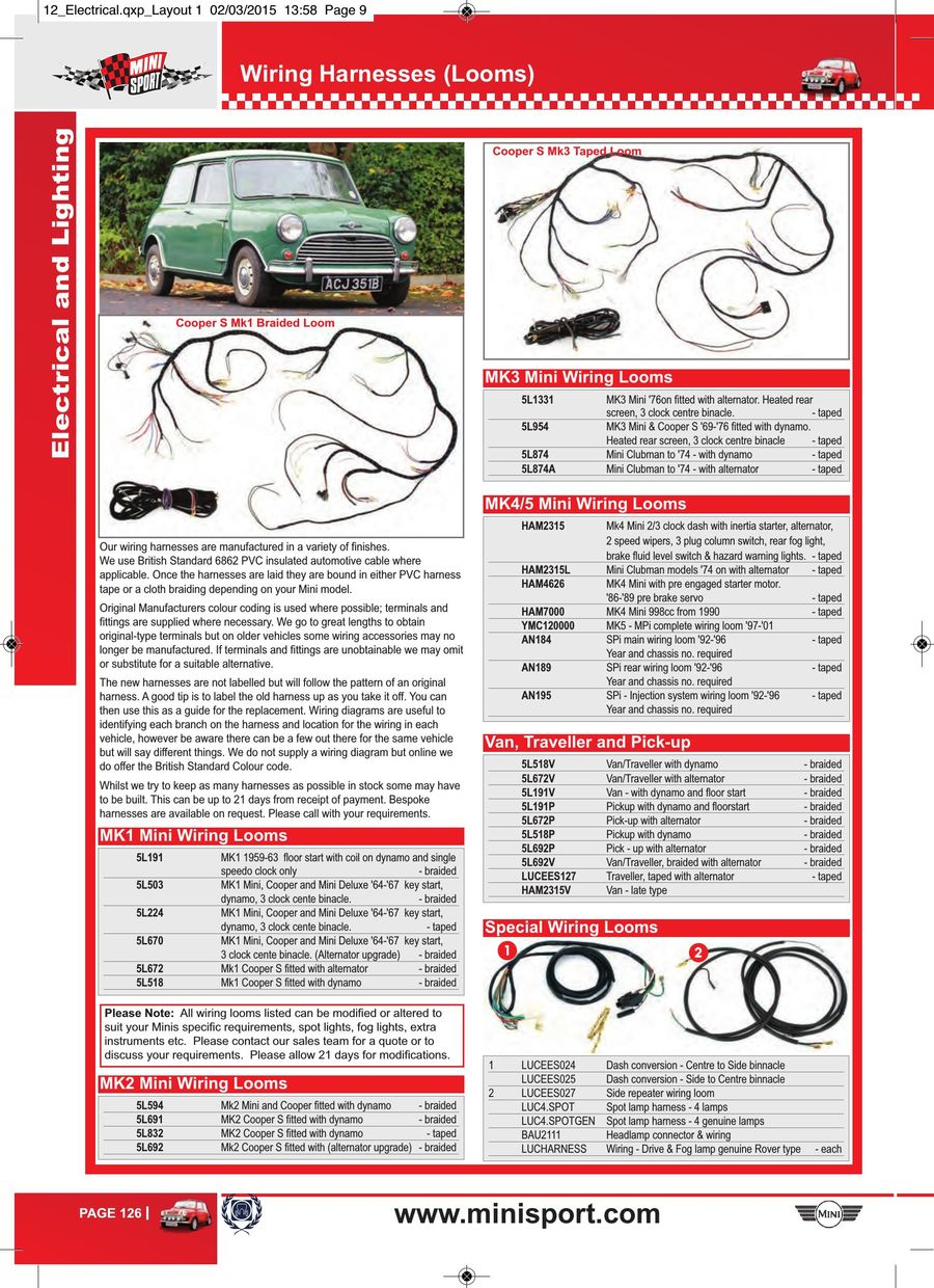 Page 126 Of Mini Parts 2015 Cooper S Main Wiring Harness P 196