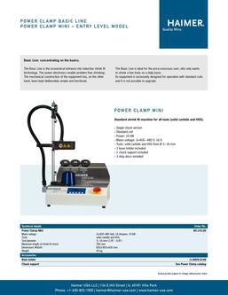 Power Clamp Basic Line 2015
