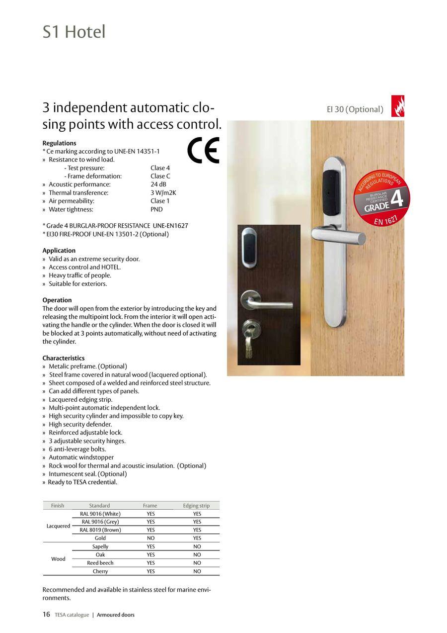 Page 16 of TESA armoured doors 2015