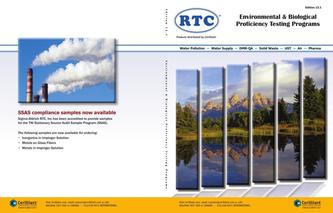 RTC 2013 Environmental & Biological Proficiency Testing Programs