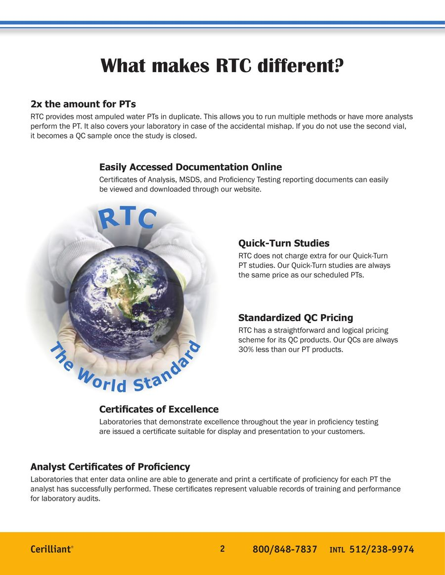 RTC 2013 Environmental & Biological Proficiency Testing Programs by ...