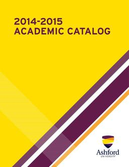 2014-2015 Ashford University Academic Catalog