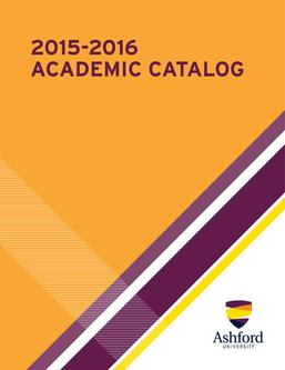 2015-2016 Ashford University Academic Catalog