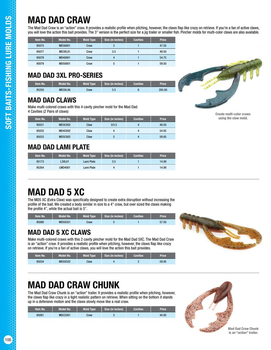 Soft Bait Molds and Supplies 2017 by Do-it Molds