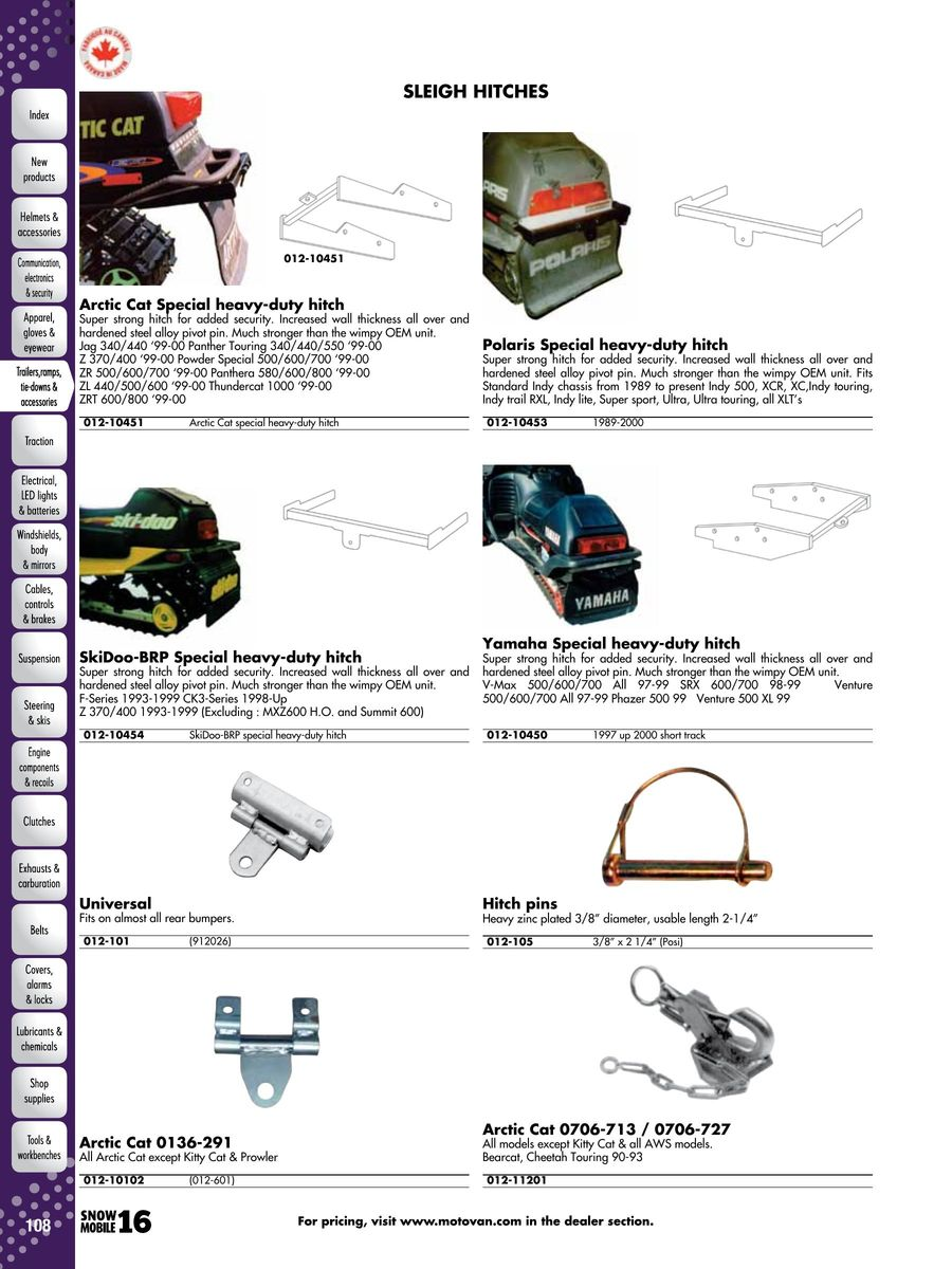 Page 108 Of 2016 Snowmobile Parts Accessories Wiring Diagram 2000 Zrt 600 Arctic Cat P 1052