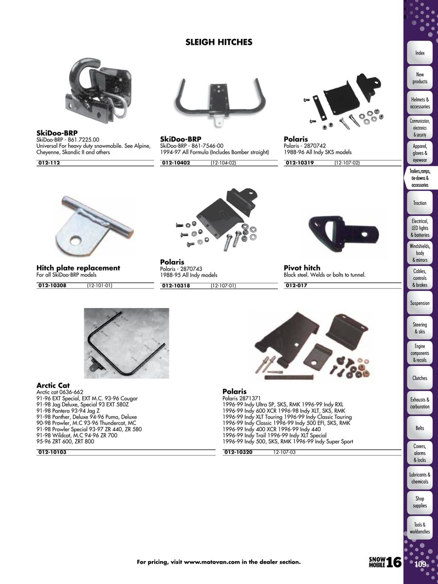 Page 108 Of 2016 Snowmobile Parts Accessories Arctic Cat Zl 440 Wiring Diagram P 1052
