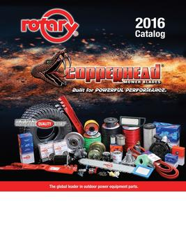 Outdoor power equipment parts, tools and accessories 2016
