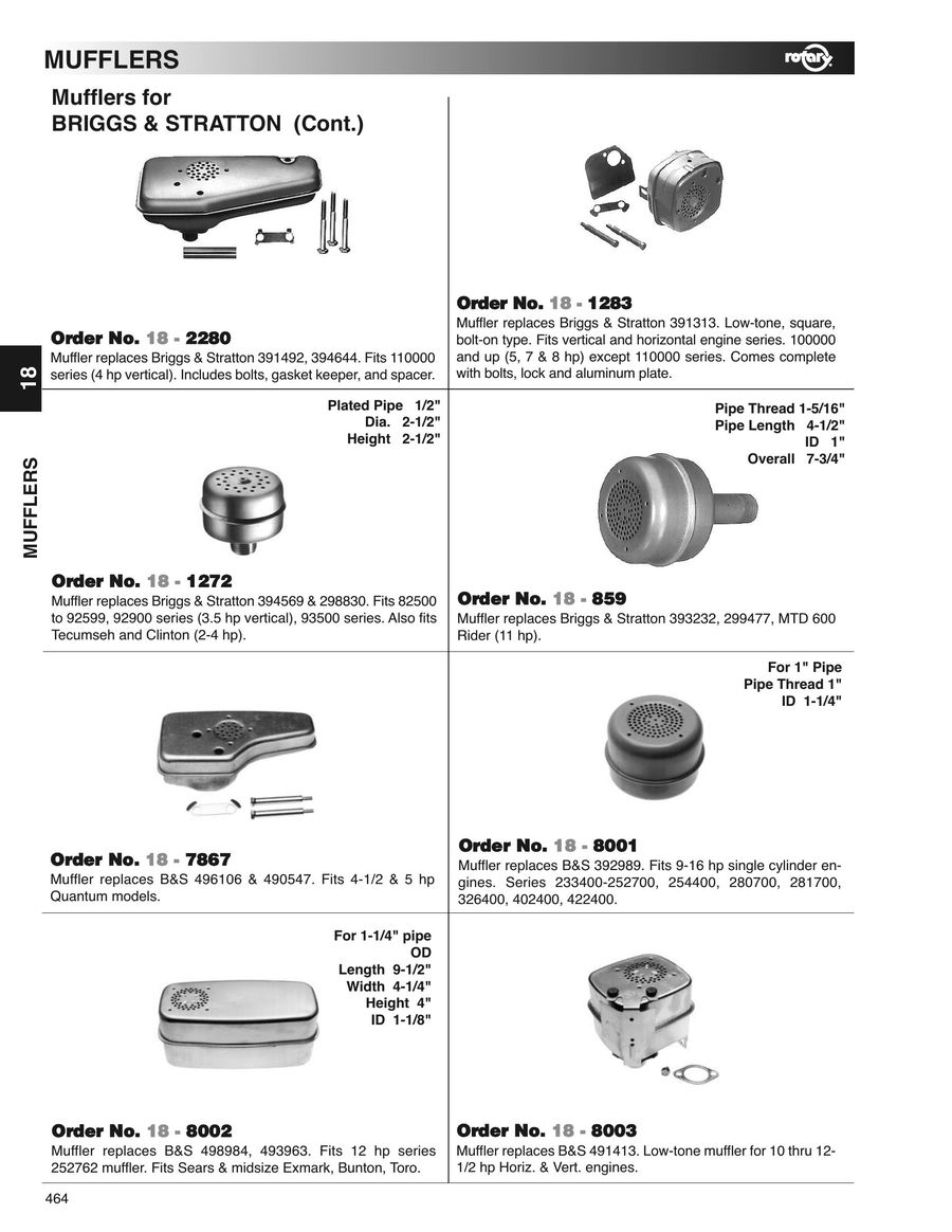 Page 464 of Outdoor power equipment parts, tools and