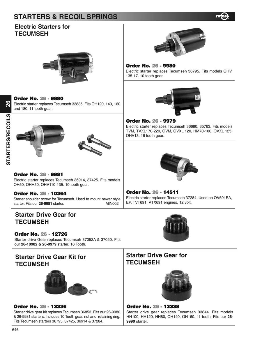 Page 646 of Outdoor power equipment parts, tools and