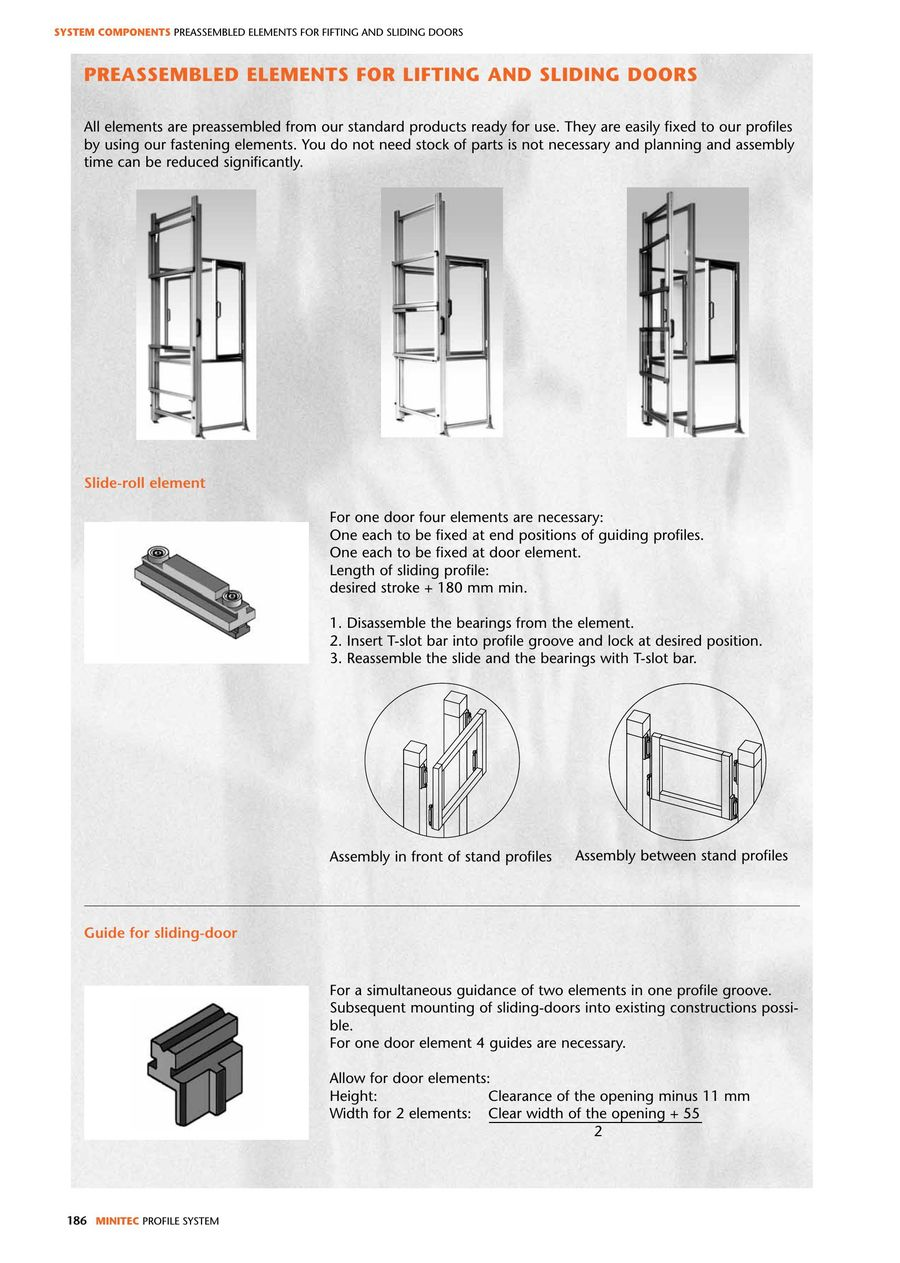 Minitec Elements For Lifting And Sliding Door Elements 2016 By
