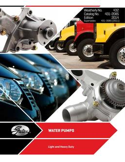 Water Pump Catalog 2014