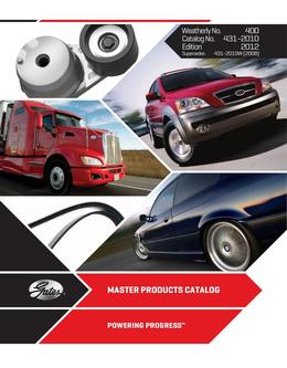 2012 Master Products Catalog