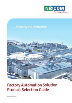 Factory Automation Solution Product Selection Guide 2014