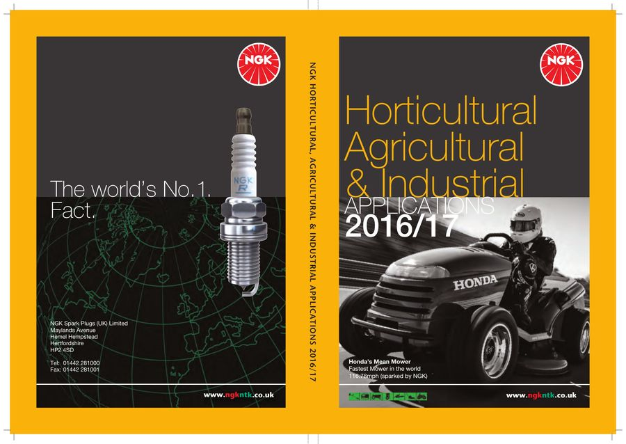 Horticultural catalogue 2016 by NGK Spark Plugs UK