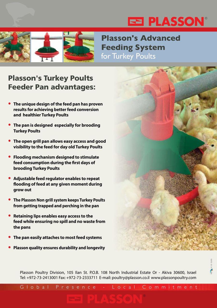 Plasson Feeding Pan for Turkey Poults 2016 by Plasson Livestock