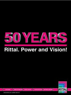 50 YEARS - Rittal. Power and Vision