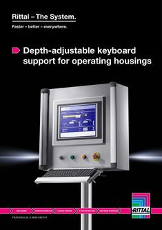 Depth-adjustable keyboard support for operating housings 2014