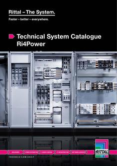 Technical System Catalogue Ri4Power 2014